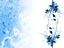 Blue-White Wallpaper by nivener