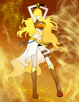 Golden Vixen by XLinnetX