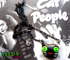 CAT NECKLACE by TocsinDesigns