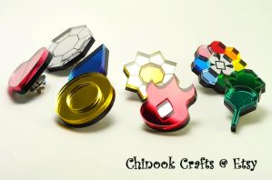 Kanto Region Gym Badges by ChinookCrafts