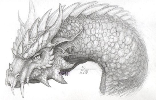 Another dragon sketch - for sale by xHideFromTheSunx