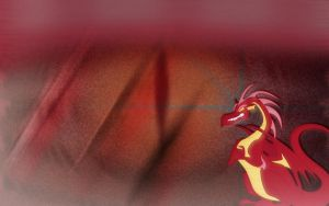 MLP Red Dragon Wallpaper by Clone26
