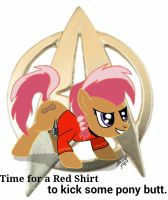 Peanut pony red shirt by Tabaxion