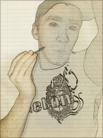 Drawing me. by PimArt