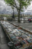 Southbank Book Market, London (HDR) by PeteNoir