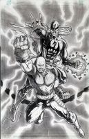 Luke Cage and Iron Fist by jey2dworld
