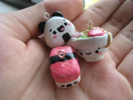 Japanese Food Charms! by strawberrycharms