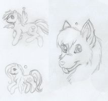 PonyCharms_Sketches by LilLoate