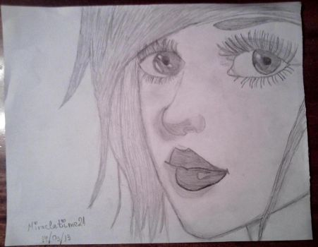 Girl's face by Miracletime21