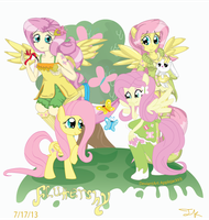 Fluttershys all Version Cover! by Arteses-Canvas