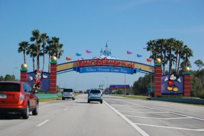 Disney World Entrance Sign by katiezstock