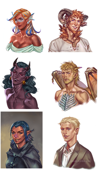 Headshot commissions by Orsob