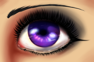Semi-Realistic Eye Practice by KirCorn