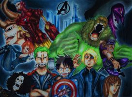 One Piece as Avengers by NeoAngeliqueAbyss