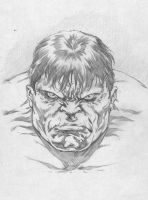 HULK STARE by caananwhite