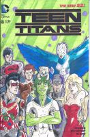 teen titans issue 8 (G.S blank variant) front by paintbrushofjustice