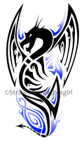 Dragon Tattoo Design Blue by Strawberrygashesgirl
