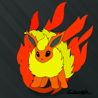 Flamming Flareon by androtech95