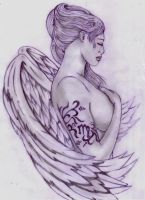 Tattooed Angel by Shadow3217