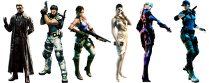 Resident Evil 5 Characters by IvanCEs