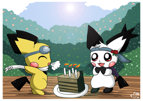 Sparks is now 4 by pichu90