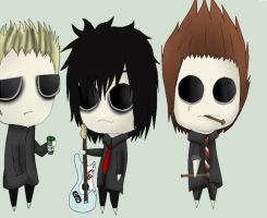Green Day Psycho Chibis by xvooxdoox