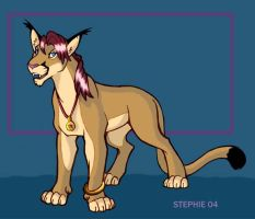 Stephie  the Caracal-Puma by lady-cybercat