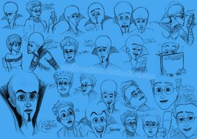 Megamind Sketchdump by anifanatical