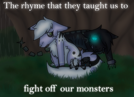 :VC: To Fight Off Our Monsters by GlassFeline