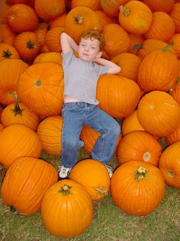 Redheaded Pumpkin Boy by androidny