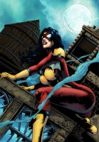 Spider-Woman by logicfun