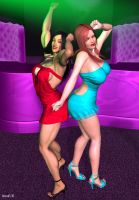 Lin and Jessica at Club Sin by hotrod5