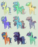 Sparkle Hair ponies (closed) by lizzielove2407
