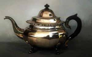 Teapot painting by chewymonkey