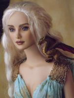 OOAK Daenarys Doll with Dragon by ShannonCraven