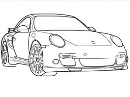 How to draw a Porsche Part 2 by SketchHeroes