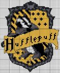 Hufflepuff crest pattern by Astraan