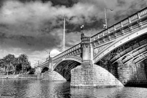 Princes Bridge BW by DanielleMiner