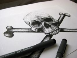 Skull and crossbones by xhaimiddleton