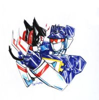TF:kittyScremer n Soundwave by Beriuos