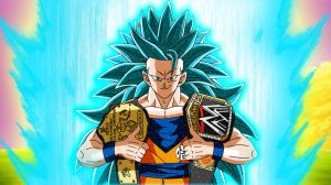 WWE World Heavyweight Champion Goku SSJGSSJ3 by gonzalossj3