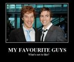 Tennant and Cumberbatch by DT08plusSteven