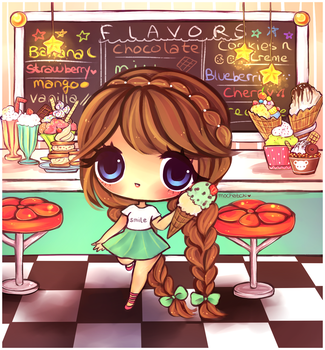 Ice Cream Parlor by mochatchi