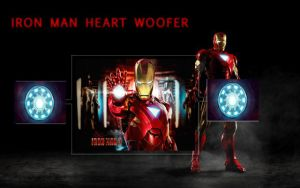 Iron Man Heart Woofer(Rainmeter) 2.0 by vigneshvaran