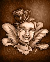 Steampunk Silicon Heart supporter prize sketch by Kat-Nicholson