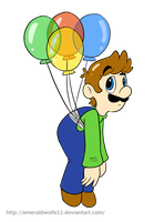 Balloon luigi by MariobrosYaoiFan12