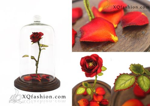 Hand Embroidery Rose by XQFashion