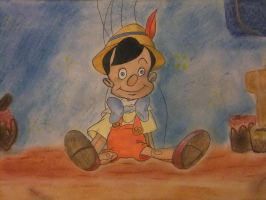 Pinocchio Disney drawing by chloesmith8