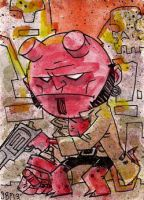 Hellboy Chibi by SpencerPlatt