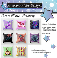 Throw Pillow Giveaway (CLOSED) by sampsonknight